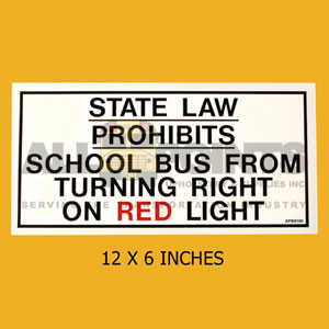 "DECAL- "" STATE LAW PROHIBITS.. "", 12X6"""