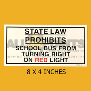 "DECAL- "" STATE LAW PROHIBITS.. ."", 8X4"", BLACK ON"
