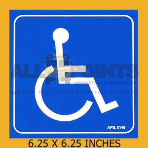 "DECAL - DISABLED SYMBOL, 6"", BLUE"