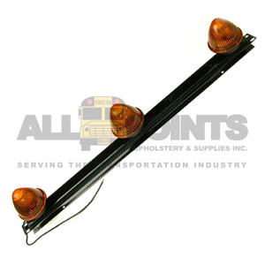 AMBER TRIPLE BAR LIGHT, BEEHIVE TYPE