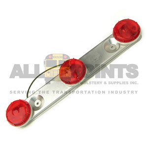 RED TRIPLE BAR LIGHT ASSEMBLY