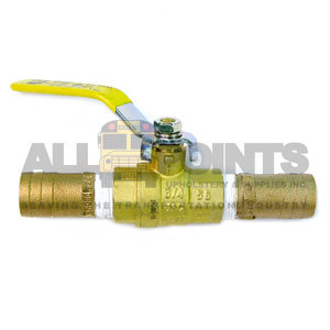 "3/4"" BALL VALVE WITH 1"" OUTLETS"