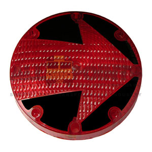 RED STOP LENS WITH ARROW
