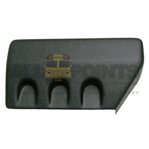 MIDBUS REAR BUMPER CAP, LEFT