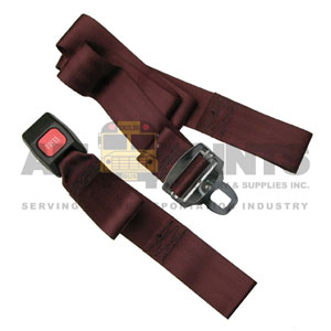 "PASSENGER BELT 60"" LOOP END, MAROON"