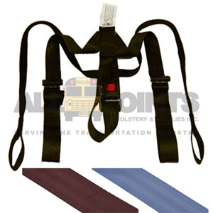 "BUS SEAT ""Y"" HARNESS, BLUE"