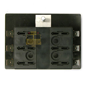 6 POSITION FUSE BLOCK, COMMON FEED