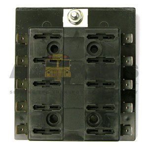 10 POSITION FUSE BLOCK, COMMON FEED