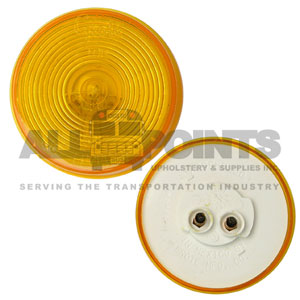 "2.5"" SEALED MARKER LIGHT WITH OPTIC, AMBER"