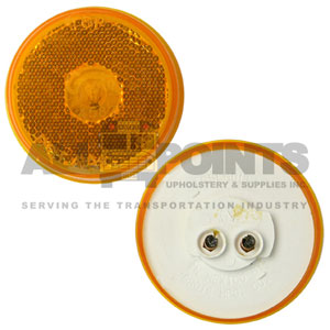 "2.5"" 10 SERIES REFLECTIVE MARKER, AMBER"