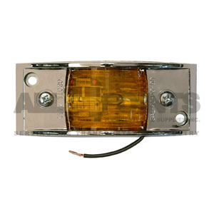 AMBER CHROME ARMORED MARKER LIGHT