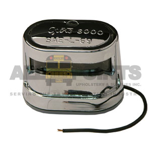 LICENSE LAMP ASSEMBLY, CHROME, 1 WIRE