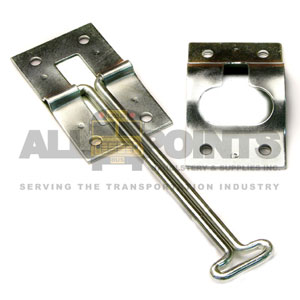 "DOOR HOLD HOOK AND KEEPER SET, 6"" HOOK, 3""L X 1 3/"