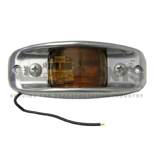 AMBER ARMORED CLEARANCE MARKER LIGHT ASSEMBLY