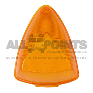 MARKER LIGHT LENS, AMBER, 1 HOLE