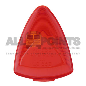 MARKER LIGHT LENS, RED, 1 HOLE