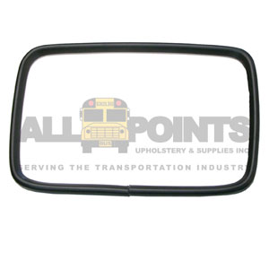 "MIRROR HEAD, FLAT GLASS, 6.5X10"", PVC RIM"