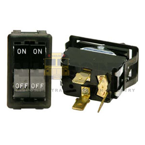 DUAL ROCKER SWITCH, 4 BLADE, ON/OFF