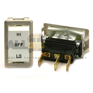 ROCKER HEATER SWITCH, 3 BLADE, HI/LO/OFF