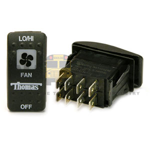 THOMAS ROCKER FAN SWITCH, 8 BLADE