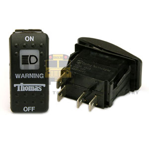 THOMAS ROCKER WARNING SWITCH, 4 BLADE