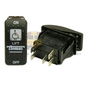 THOMAS ROCKER LIFT SWITCH, 5 BLADE, ON/OFF