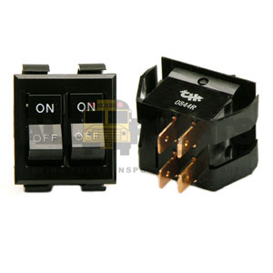 DOUBLE ROCKER ON/OFF SWITCH, 4 BLADE