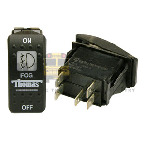 THOMAS ROCKER FOG LIGHT SWITCH, 5 BLADE