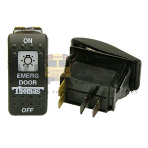 THOMAS ROCKER EMERGENCY DOOR SWITCH, 4 BLADE