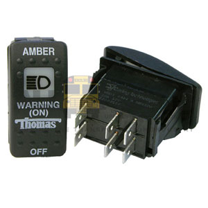 THOMAS AMBER WARNING SWITCH, 6 BLADE