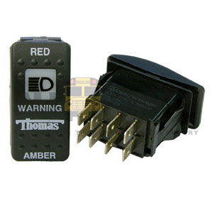 THOMAS ROCKER WARNING SWITCH, 8 BLADE
