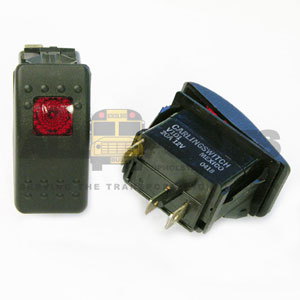 ROCKER ON/OFF SWITCH WITH RED INDICATOR LIGHT, 3 B