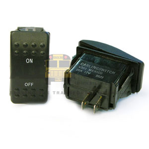 ROCKER SWITCH MOMENTARY, ON/OFF, AMTRAN STYLE, 2 B