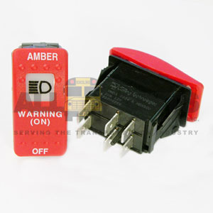 THOMAS-STYLE RED WARNING SWITCH, 6 BLADE