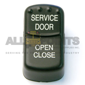 BLUE BIRD-STYLE SERVICE DOOR ROCKER SWITCH COVER