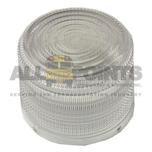 ROOF BEACON LENS, CLEAR, 4""