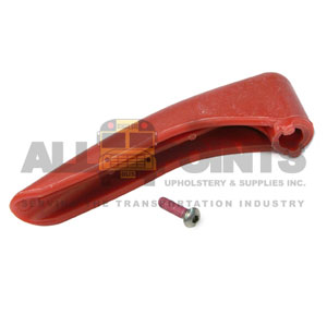 INTERIOR HANDLE, RED PLASTIC