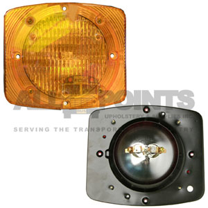 RECTANGULAR WARNING LIGHT ASSEMBLY, AMBER