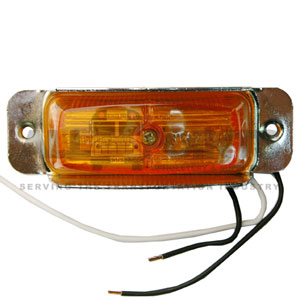 AMBER RECTANGULAR ASSEMBLY, DUAL BULB