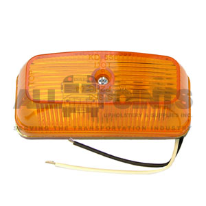 AMBER RECTANGULAR ASSEMBLY WITH GROUND