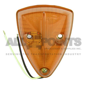 AMBER TRIANGLE MARKER LIGHT WITH GROUND