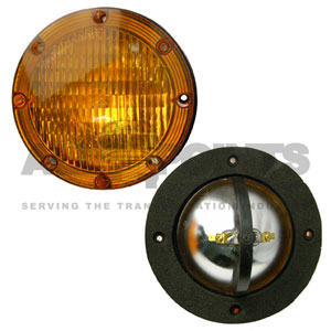 AMBER WARNING LIGHT ASSEMBLY, SMOOTH LENS