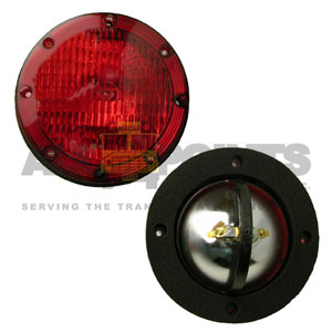 RED WARNING LIGHT ASSEMBLY, SMOOTH LENS