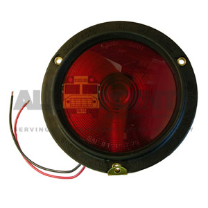 RED TAILLIGHT ASSEMBLY WITH RUBBER HOUSING, DOUBLE