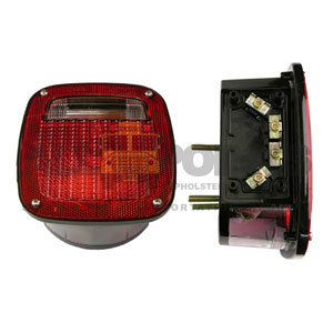 RED TAILLIGHT ASSEMBLY, UNIVERSAL, LEFT HAND