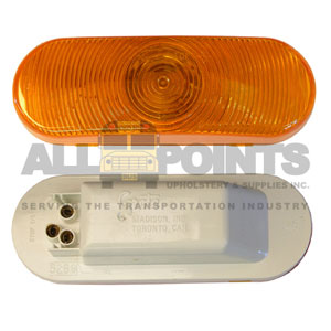 60 SERIES OVAL LIGHT ASSEMBLY, AMBER