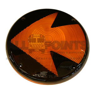 "7"" AMBER LENS WITH ARROW"