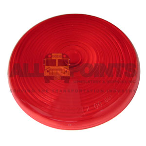 RED TAIL LIGHT LENS, SNAP ON