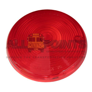 RED TAIL LIGHT LENS; 2 HOLE
