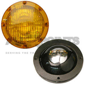 AMBER WARNING LIGHT ASSEMBLY, 7""